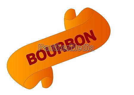 bourbon alcohol scroll