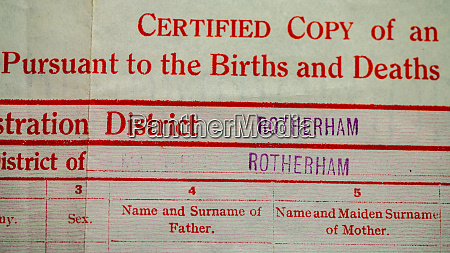 uk birth certificate