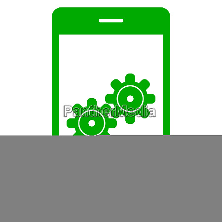 gears and smartphone