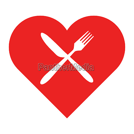 cutlery and heart