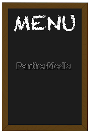 menu on a chalkboard