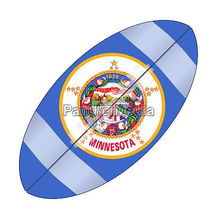 minnesota state usa football flag