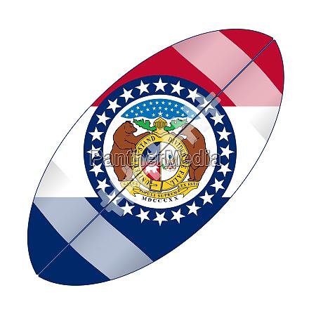 missouri state usa football flag