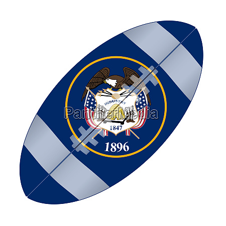 utah state usa football flag