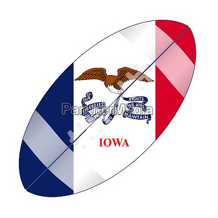 iowa state usa football flag