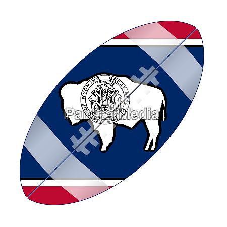 wyoming state usa football flag