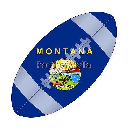 montana state usa football flag