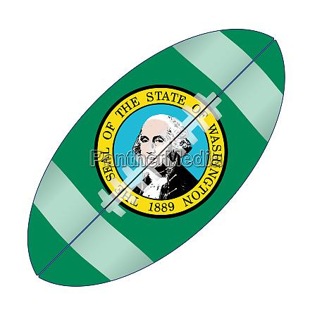 washington state usa football flag