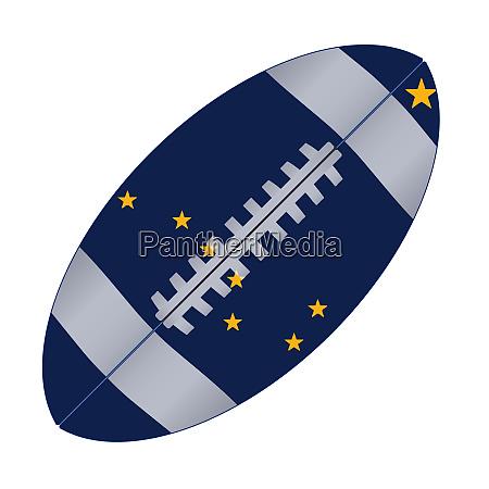 alaska state usa football flag