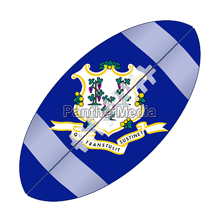 connecticut state usa football flag