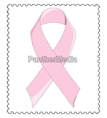 breast awareness ribbon stamp