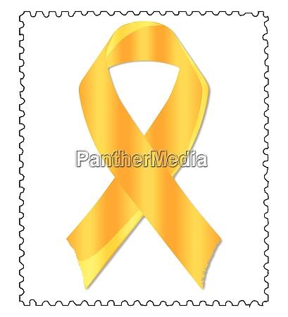 childhood awareness ribbon stamp