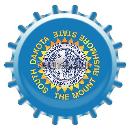 south dakota bottle cap