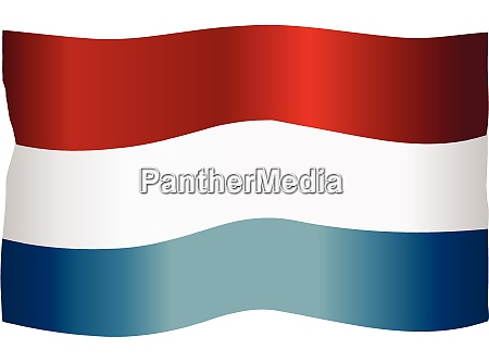 luxembourg national flag fluttering