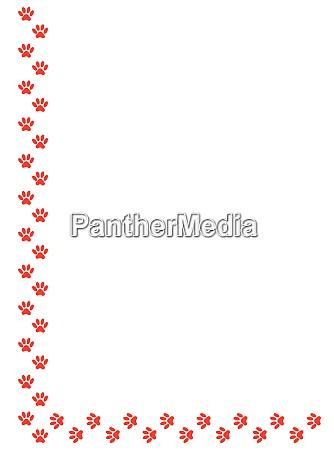 a4 page size paw print botder