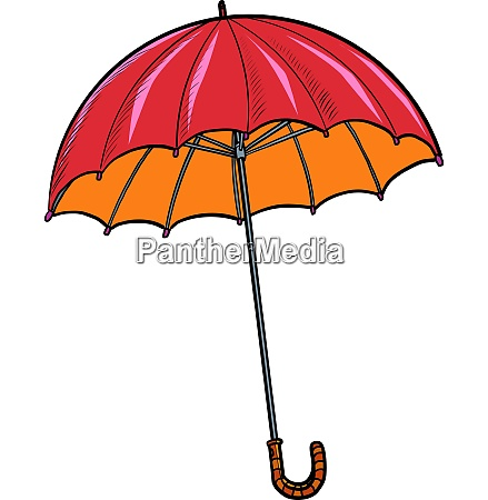 red umbrella autumn accessory
