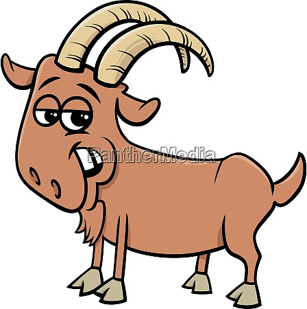 funny goat farm animal cartoon character