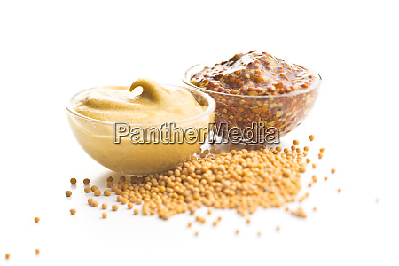yellow mustard and whole grain mustard