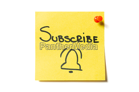 subscribe and bell drawn on yellow