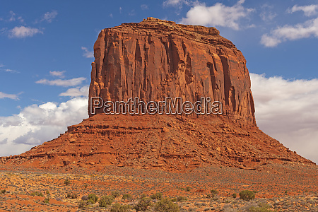 imposing butte in the desert