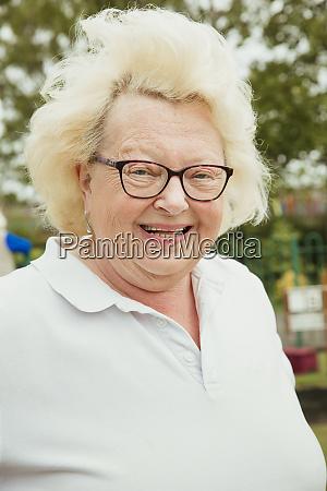 portrait of cute senior woman