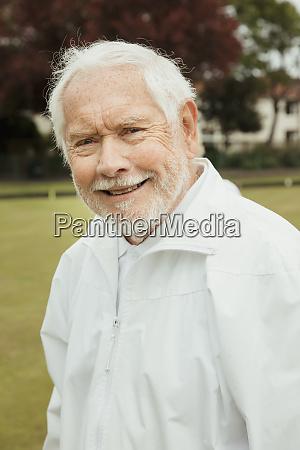 carefree senior man