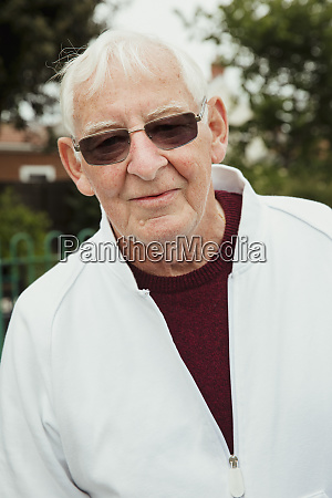 cool senior man wearing sunglasses