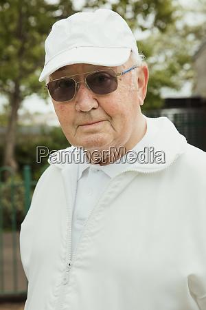 senior man looking cool
