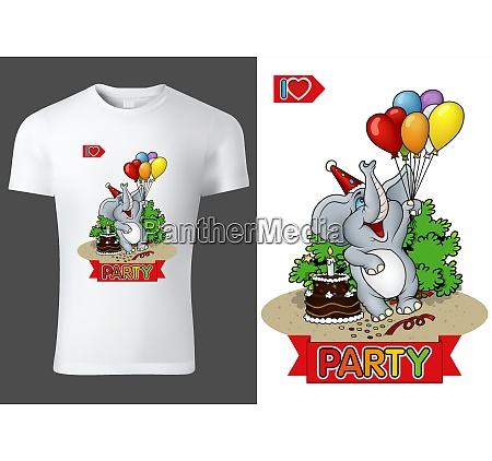 child t shirt design with party