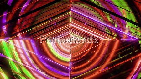 abstract eye glowing colorful multicolor quarter