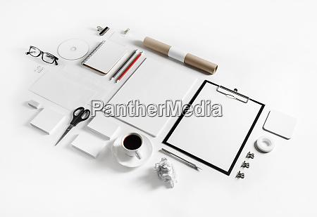 blank corporate stationery