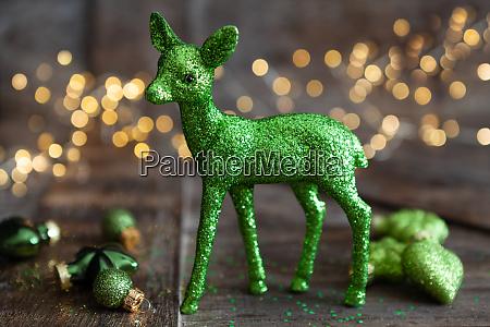 green christmas ornamnets