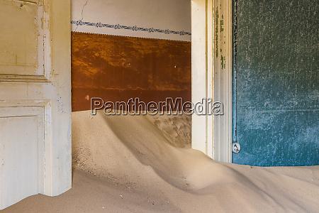 africa namibia kolmanskop doorway and drifting