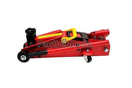 new red car jack isolated on