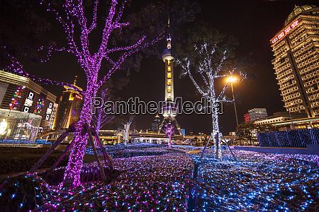 china shanghai artistic light display at