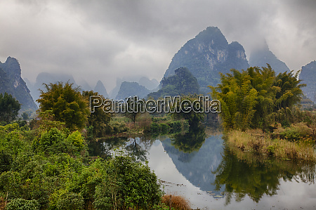 china yang shou mountains of the
