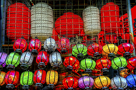 colorful blue red and green chinese