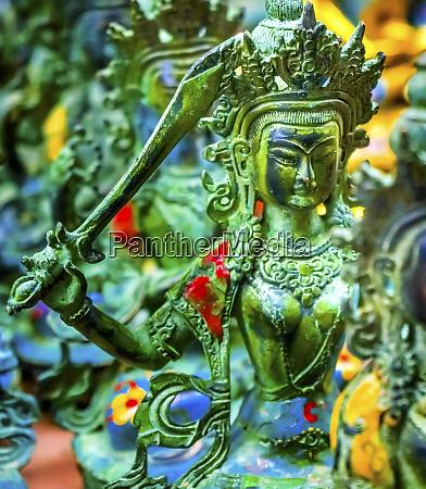 chinese replica of bronze buddha warrior