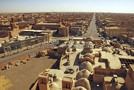 iran yazd aerial view of the