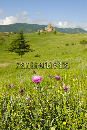 jvari church on hill top mtskheta
