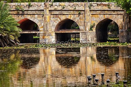 athpula eight piers stone bridge reflection