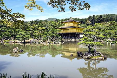 kyoto japan kinkaku ji temple of