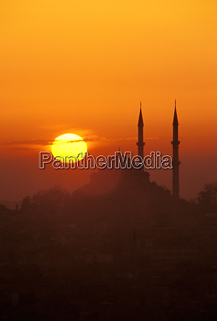 europe middle east turkey istanbul silhouette