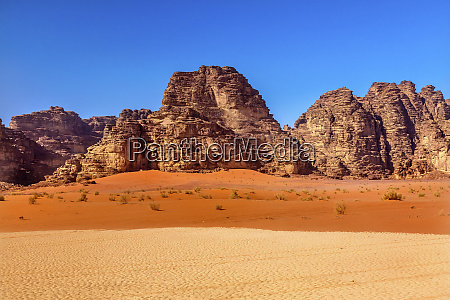 sand rock formation wadi rum valley