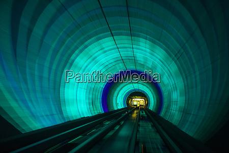singapore colorful railroad tunnel under a
