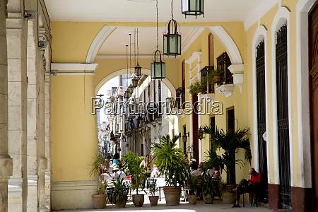 cuba havana colonial arcade old havana