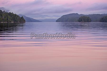 canada british columbia calvert island sunset