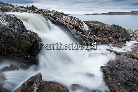 canada nunavut territory blurred image of