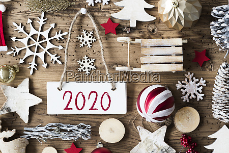rustic christmas flat lay text 2020