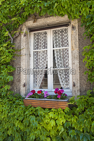 quaint window cluny maconnaise france europe